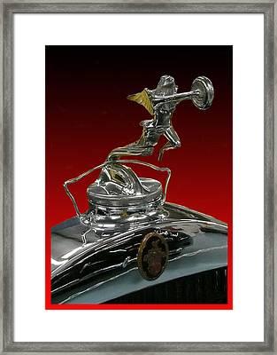 Winged Goddess Of Speed Framed Print by Jack Pumphrey