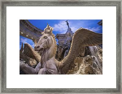 Winged Horse Framed Print by Glenn DiPaola