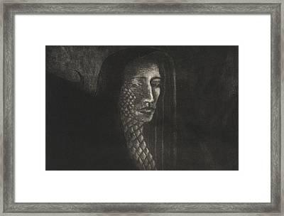 Winged Medusa Framed Print by Pati Hays