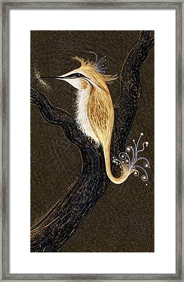 Winged Ribbonor Framed Print