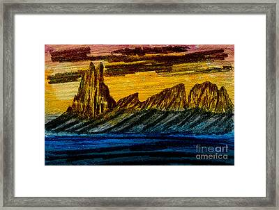 Winged Rock Framed Print by R Kyllo