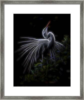 Framed Print featuring the digital art Winged Romance 2 by William Horden