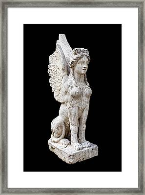 Winged Sphinx Framed Print by Fabrizio Troiani