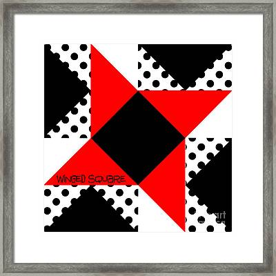 Winged Square Framed Print
