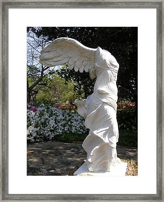 Winged Victory Nike Framed Print by Caryl J Bohn