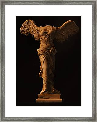 Winged Victory Of Samothrace Framed Print by Joseph Pugliese