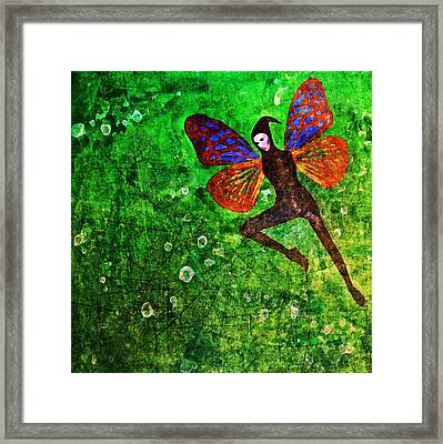 Framed Print featuring the digital art Wings 10 by Maria Huntley