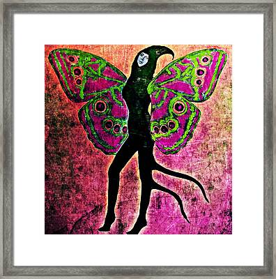 Framed Print featuring the digital art Wings 11 by Maria Huntley