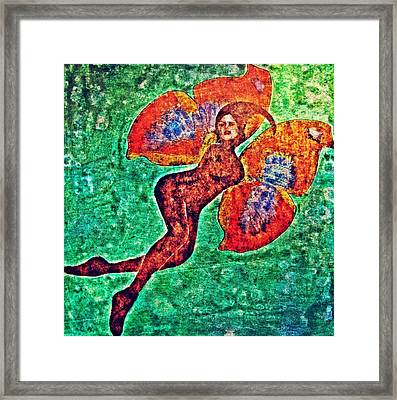 Framed Print featuring the digital art Wings 12 by Maria Huntley