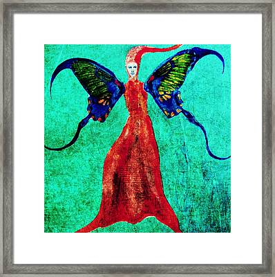 Framed Print featuring the digital art Wings 13 by Maria Huntley