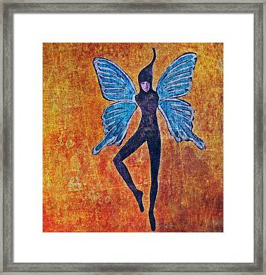 Framed Print featuring the digital art Wings 16 by Maria Huntley