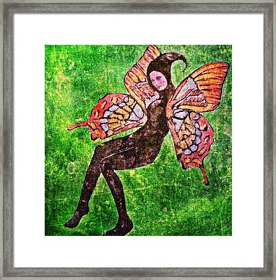 Framed Print featuring the digital art Wings 17 by Maria Huntley