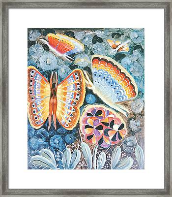Wings, 1979 Oil On Canvas Framed Print
