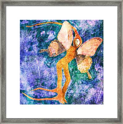 Framed Print featuring the digital art Wings 8 by Maria Huntley