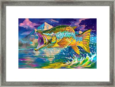 Wings And Fins  Framed Print