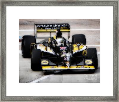Wings And Racing Framed Print by Bryan Maransky
