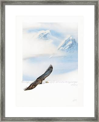 Wings As Eagles Framed Print by Cliff Hawley