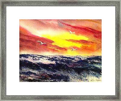 Wings Of Change Framed Print by Karen  Condron