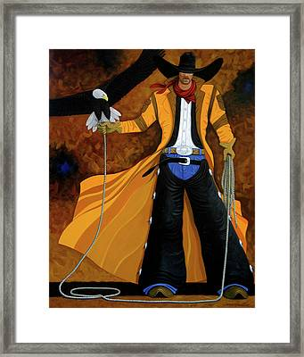 Wings Of The West Framed Print by Lance Headlee