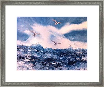 Wings Of The Wind Framed Print by Karen  Condron