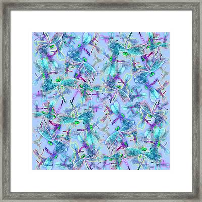 Wings On Blue Duvet Cover Framed Print by Teresa Ascone