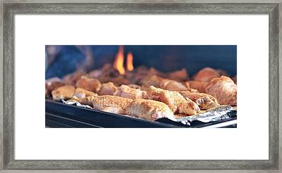 Wings On The Grill Framed Print by Dan Sproul