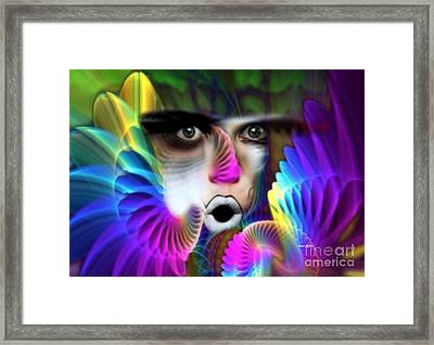 Framed Print featuring the painting Wings by Rafael Salazar