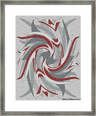 Wings Tile 3 Framed Print by Brian Johnson