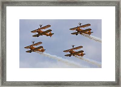 Wingwalkers  Perfect Sync Framed Print by Maj Seda