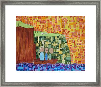 Wink Blink Nod II Framed Print by Donna Howard