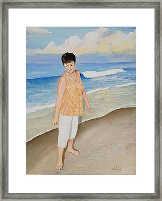 Framed Print featuring the painting Winking At The Sun by Alan Lakin