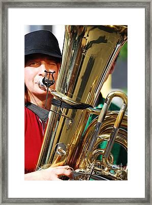 Winking Musician Framed Print by Susan Hernandez