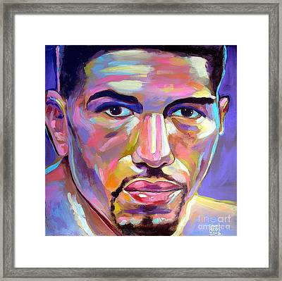 Framed Print featuring the painting Winky Wright by Robert Phelps