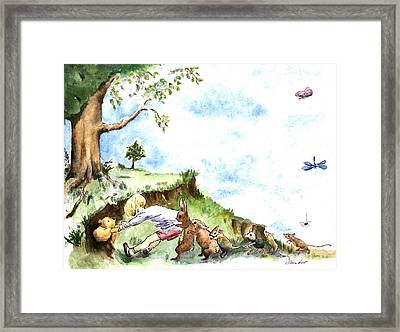 Helping Hands After E H Shepard Framed Print by Maria Hunt