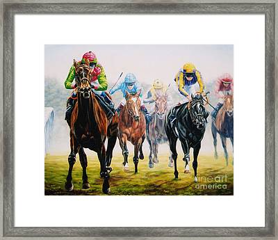 Winning As She Pleases At Ascot Framed Print by Tom Chapman