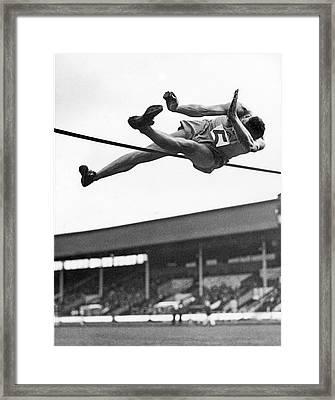 Winning High Jumper Framed Print
