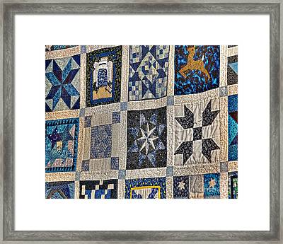 Winning Quilt Framed Print by Timothy Flanigan and Debbie Flanigan Nature Exposure