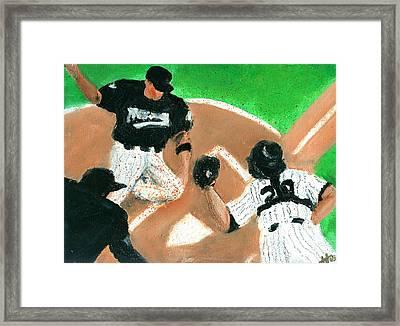 Winning Run Framed Print by Jorge Delara