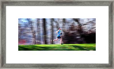Winning Speed Framed Print by Geoffrey Baker