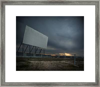 Winnipeg Drive In Framed Print