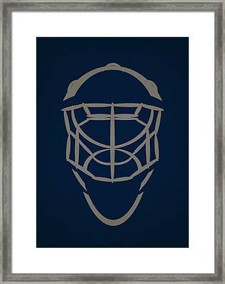 Winnipeg Jets Goalie Mask Framed Print by Joe Hamilton