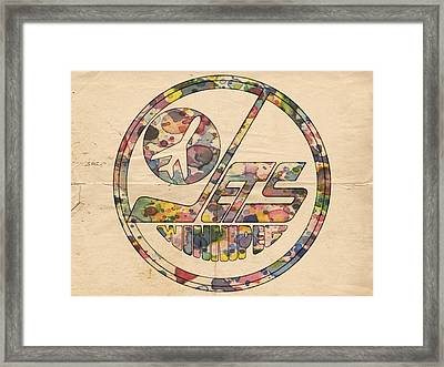 Winnipeg Jets Hockey Poster Framed Print