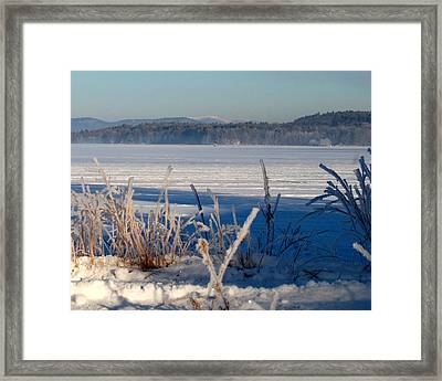 Winnisquam Winter Framed Print