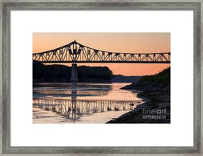 Winona Bridge Photo Early Morning Bridge Framed Print