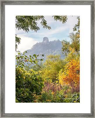 Winona Mn Souvenir Rainbow Sugarloaf Framed Print by Kari Yearous
