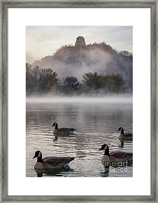 Winona Photograph Heavy Traffic At East Lake Winona Framed Print by Kari Yearous