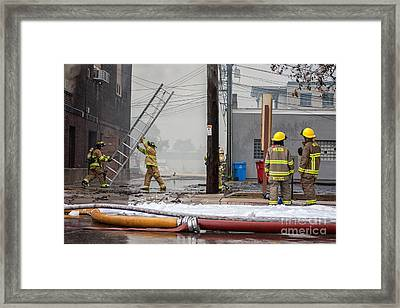 Winona Photograph Kidsport Firefighters Framed Print by Kari Yearous
