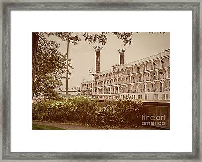 Framed Print featuring the photograph Winona Souvenir - American Queen by Kari Yearous