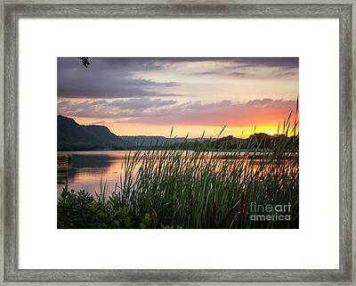 Framed Print featuring the photograph Winona Sunset by Kari Yearous