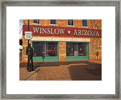 Winslow Arizona Framed Print